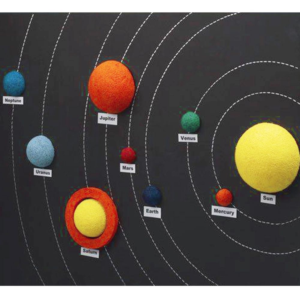 DIY Thermocol Solar System Model Kit Small - Asian Hobby Crafts