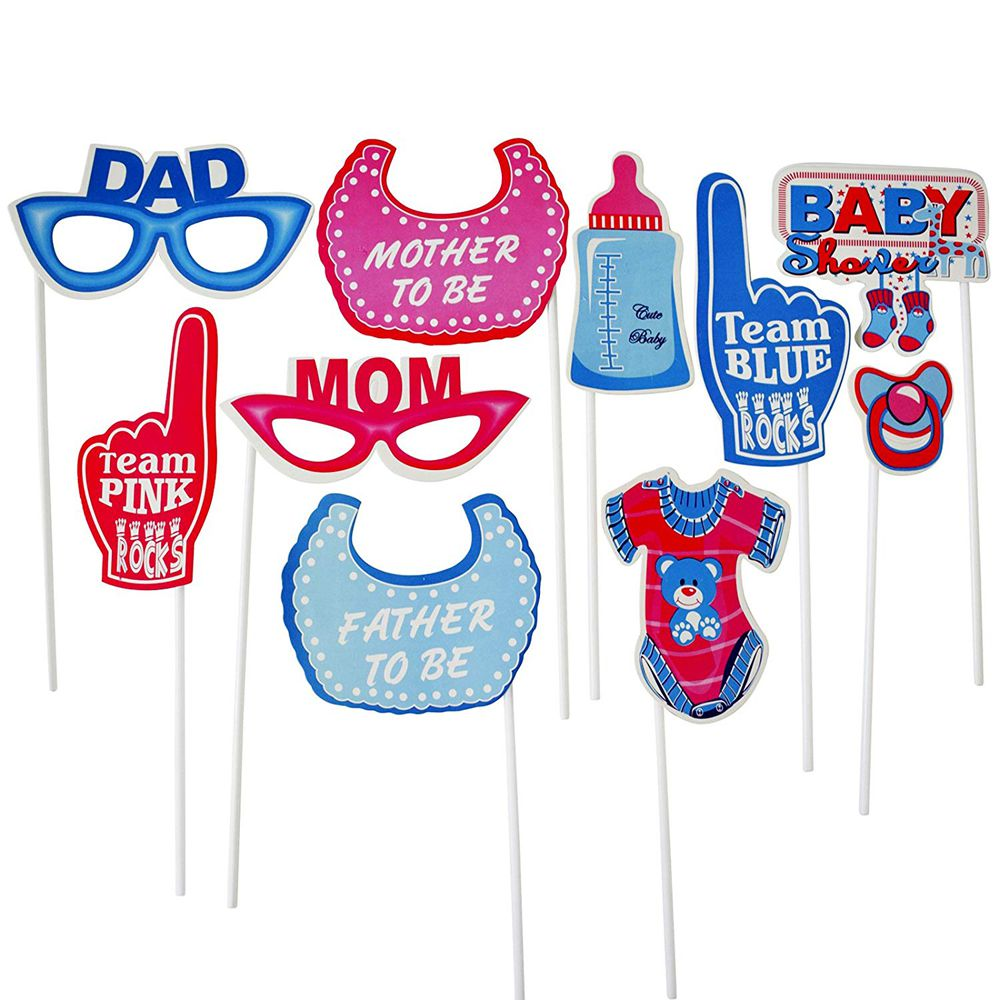 Party Props : 10pcs : for Photo Booths, Party Decor, Theme Parties (Baby  Shower)